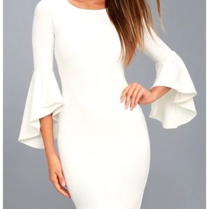 White Bell Sleeve Dress